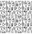 beverages seamless pattern vector image