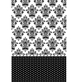 black and white wallpaper vector image vector image
