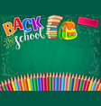 blackboard bright banner blank for text vector image vector image