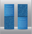 blue sequins banners card brochure probe vector image vector image