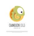chameleon reptile animal logo design vector image