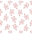 christmas seamless background doodle vector image vector image