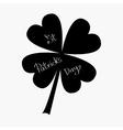 Clover leaf Four petal green clover Flat design vector image vector image