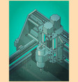 cnc machine for 3d carving retro poster style vector image vector image