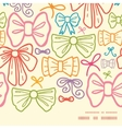 colorful bows horizontal frame seamless pattern vector image