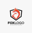 creative fox animal modern simple logo vector image