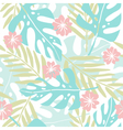 Cute hand drawn tropical seamless pattern vector image vector image