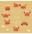 cute of crabs and lettering on vector image vector image