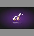 d alphabet letter gold golden logo icon design vector image vector image