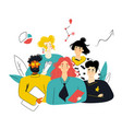 diverse group people team building meeting vector image