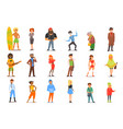 flat set of various cartoon people vector image