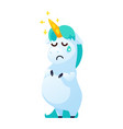 funny unicorn isolated on white background vector image vector image