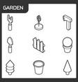 garden isometric icons vector image