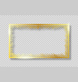gold frame with golden snowflakes banner vector image