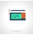 GPS device flat icon vector image