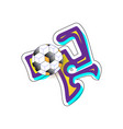 graffiti football cool image with abstraction of vector image vector image