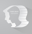 Graphic of a male head symbol vector image vector image