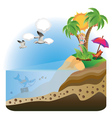 Happy Girl on Island vector image vector image