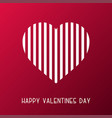 happy valentines day card abstract striped vector image