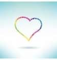 Heart contour made of hearts Love concept icon vector image vector image