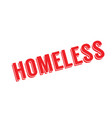 homeless rubber stamp vector image