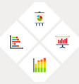 icon flat graph set of diagram infographic chart vector image vector image