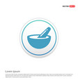 icon of bowl and chopsticks - white circle button vector image