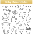isolated flower pots vector image
