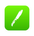 knife icon simple black style vector image vector image