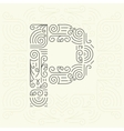 Letter P Golden Monogram Design element vector image vector image