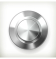 Metal button vector image vector image
