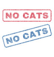 no cats textile stamps vector image vector image