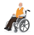 Old man grandfather in wheelchair isolated on vector image vector image