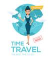 online flight booking servicetravel posterbanner vector image