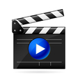 open movie clapboard on white background vector image