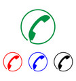 phone icon sign handset vector image vector image