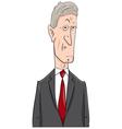 politician cartoon character vector image vector image
