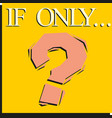 question mark icon sign on a yellow background vector image