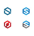 s logo hexagon icon vector image vector image