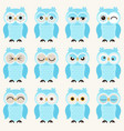 seamless cute baowls emoji icon pattern funny vector image vector image