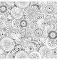 Seamless flower black and white retro background vector image vector image