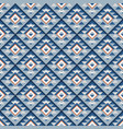 seamless geometric blue square pattern with shadow vector image vector image