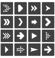 Set of stencil arrows vector image vector image