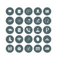 set web icons social and business icons in a vector image vector image