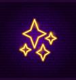 sky stars neon label vector image vector image