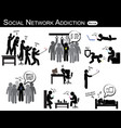 social network addiction vector image vector image