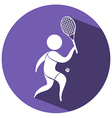 Sport icon design for tennis vector image vector image