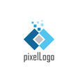 square pixel logo vector image