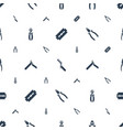 stainless icons pattern seamless white background vector image vector image