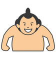 sumo wrestler avatar character vector image vector image